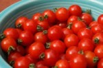 Cherry Tomatoes are sweeter and more juicy.   Snacking on cherry tomatoes or including them in a recipe helps you get the vitamin A and vitamin C you need each day